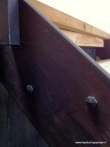 Detail van handgemaakte bouten