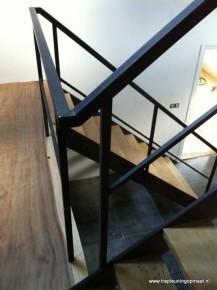 Overzicht van de twee trapdelen
