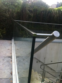 Detail van leuning naar balustrade