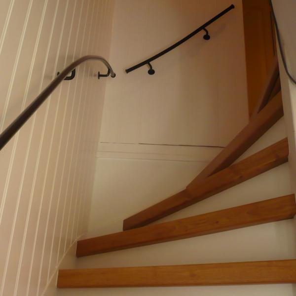 Losse delen met ronde rozetten trapleuning op maattrapleuning op maat - Leuning smeedijzeren trap ...