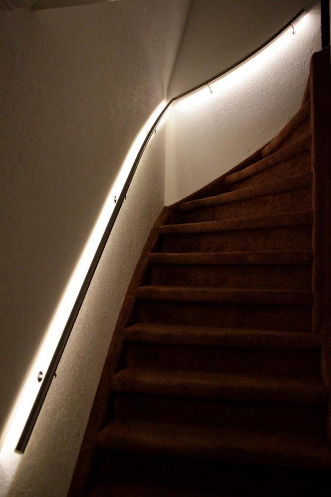 roestvrijstalen trapleuning met led verlichting